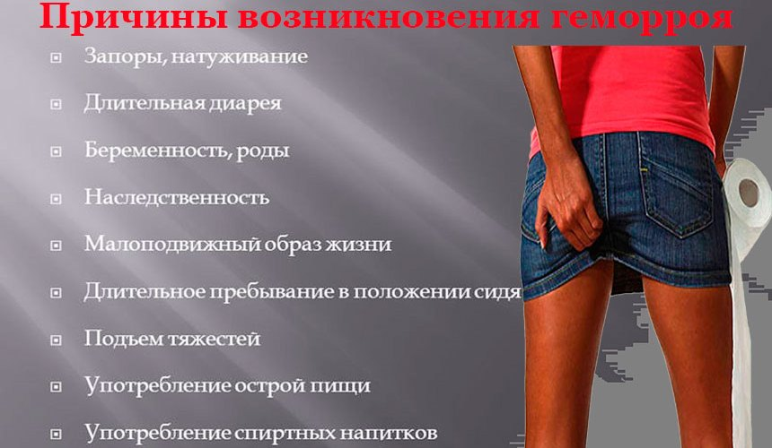 Основные причины заболевания прямой кишки