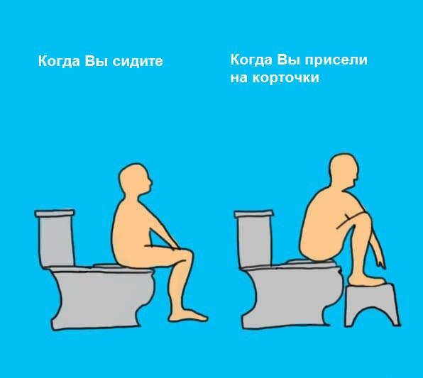Как сидеть в туалете