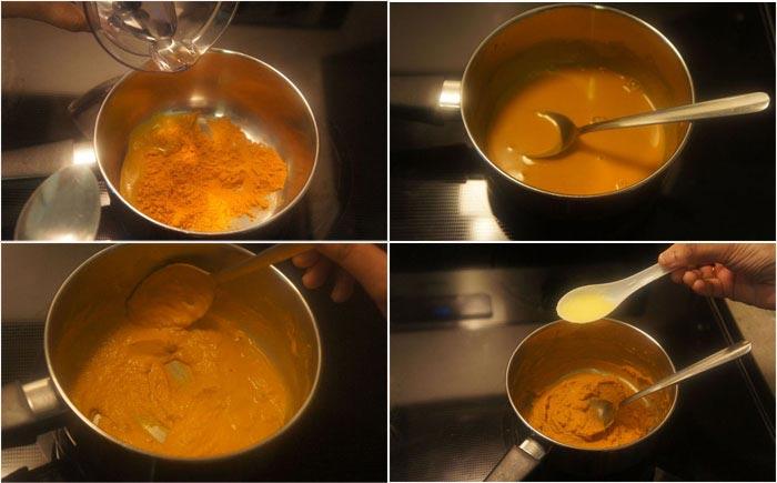 варится паста из куркумы